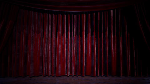 curtain stage with lights Footage