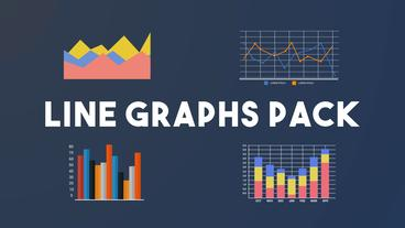 Line Graphs Pack After Effects Template