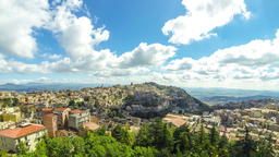 Picturesque aerial view of Enna old town, Sicily, Italy Footage