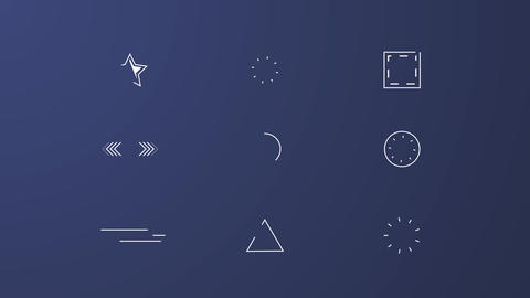 30 Shape Elements After Effects Template