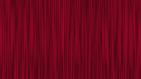 Red Theater Curtain Waving Stock Video Footage