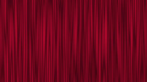 Red Theater Curtain Waving CG動画素材