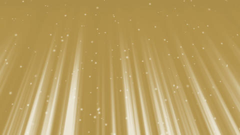 Golden Light Rays and Sparkling Particles CG動画素材