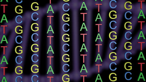 ATCG in DNA.Rotating DNA molecule background Animation