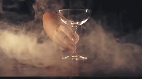 Bartender prepares a cocktail Footage