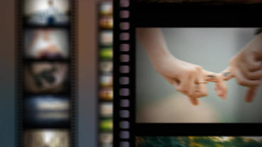 Film Slideshow stock footage