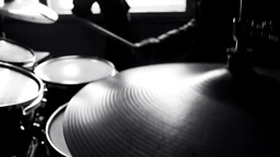 Drummer in studio Footage
