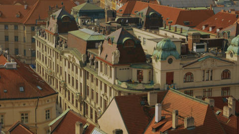 Aerial Shot of the Mala Strana District Leading to the Prague Castle Footage