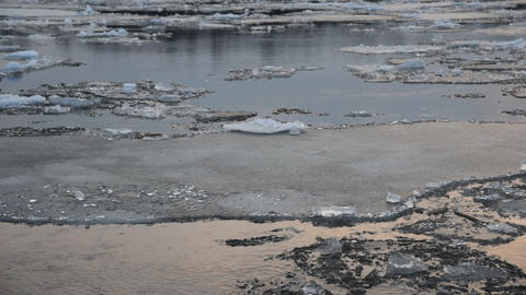 Moving ice floes Footage
