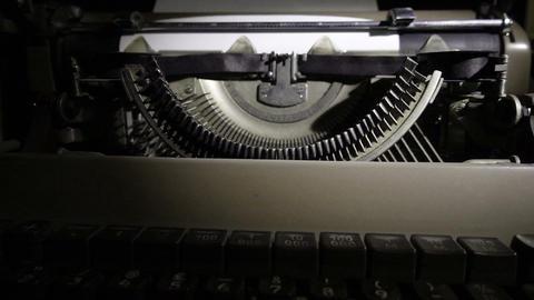 Closeup Vintage Typewriter stock footage