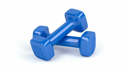 Two dumbbells Animation