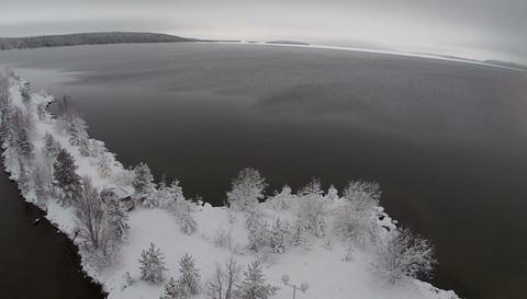 Alone Car In Frozen Trees Footage