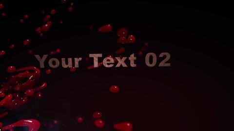 Blood Bath - Blood Splattering Cinematic Intro After Effectsテンプレート