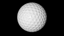 Golf Ball Alpha Channel Animation
