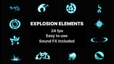 Energy Explosion Elements Premiere Pro Template