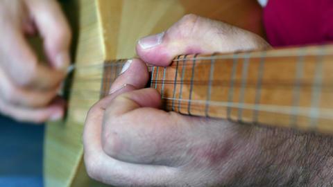 turkish saz-bağlama musical instrument Footage