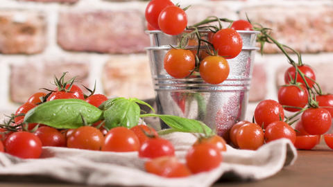 Small red cherry tomatoes Footage