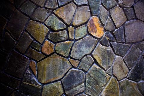 Mosaic Stone Wall Fotografía
