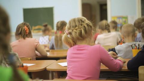 Little Children in class at school ビデオ