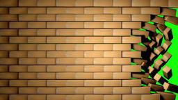 Bricks Wall - Green Screen Archivo