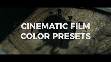 Cinematic Film Color Presets Premiere Pro Template