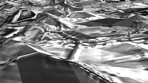 Black-white Low Poly Sea Abstract Background. Seamlessly…, Stock Animation