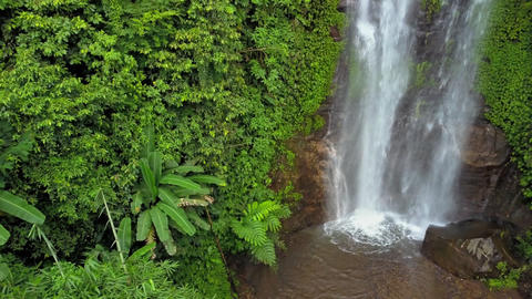 Golden valley waterfall in Bali Footage