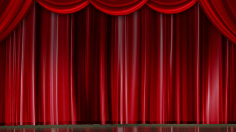 Red Curtain and Stage Lighting CG動画素材