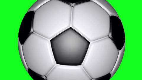 Soccer Ball - Classic - Flying Transition 02 - Green Screen CG動画素材