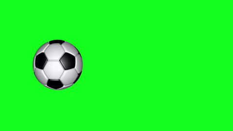 Soccer Ball - Classic - Flying Transition 03 - Green Screen GIF