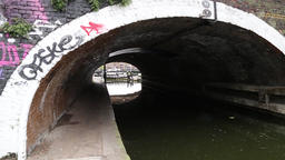 Lock and tunnel at Limehouse Basin East London London UK regents Canal joins 영상물