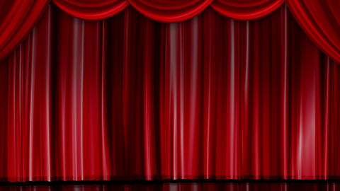 Red Curtain of Stage Animation