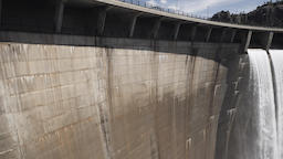 Dam of Llosa del Cavall Catalonia Spain Footage