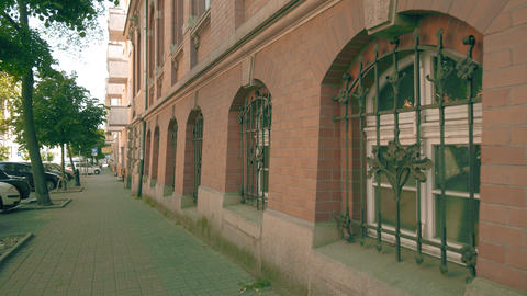 POZNAN, POLAND - MAY 20, 2018. Barred windows GIF