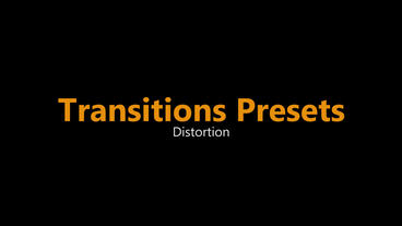 Distortion Blur Transitions Presets Premiere Pro Template