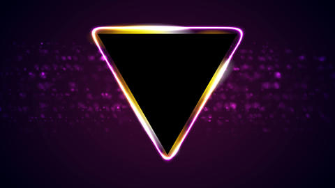 Retro neon 80s shiny triangle motion background GIF