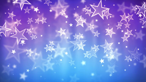 Blue Glassy Stars Animation