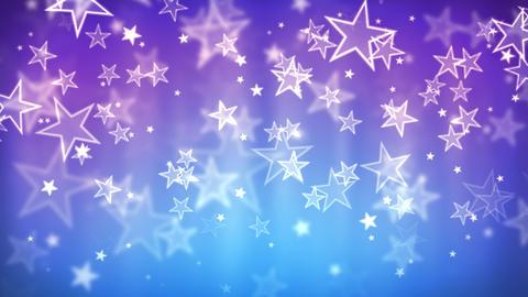 Blue Glassy Stars ภาพเคลื่อนไหว