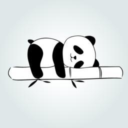 Panda on bamboo ベクター