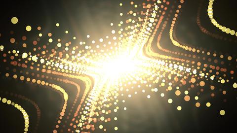 Golden Glitter Wave Animation