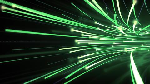 Optical Fibre Data Flow Animation