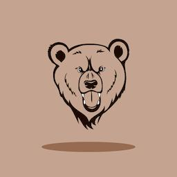 Angry Grizzly Head ベクター