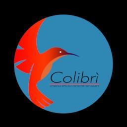 Flying Hummingbird Colibri Logo Symbol ベクター