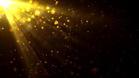 Golden Light Rays Particles Animation