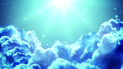 Worship Light Clouds Animation