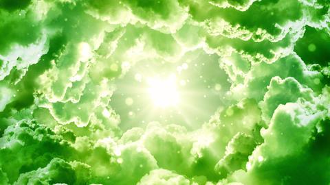 Green Fantasy Clouds GIF