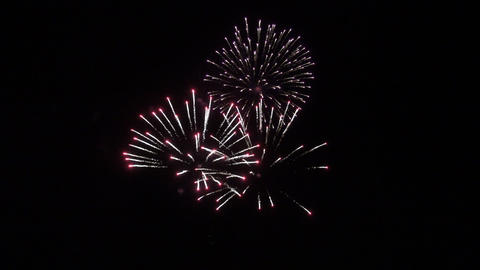 Beautiful festive multicolored fireworks Footage