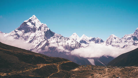 Ama Dablam Mountain view Timelapse ビデオ