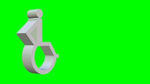 Animated wheelchair icon, 3d wheelchair pictogram…, Stock Animation