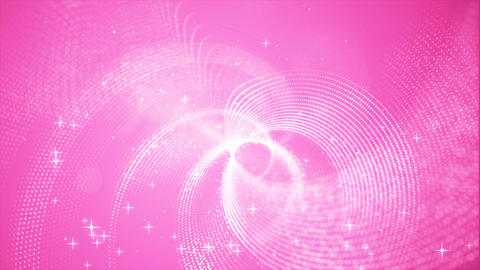 Beautiful abstract pink color digital particles wave environment motion Animation